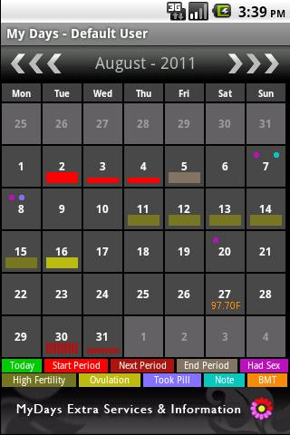 my-days-period-ovulation for android screenshot