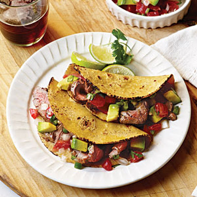 Carne Asada Tacos with Avocado Pico de Gallo