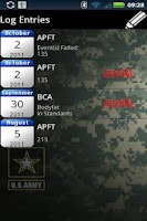 Screenshot of Army PFT