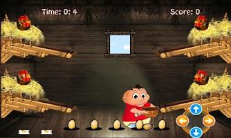 Screenshot of Chicken egg Catcher: Farm Game