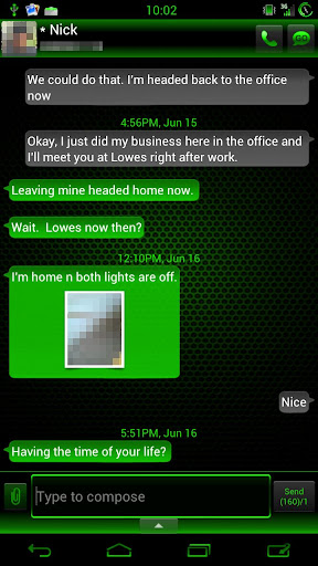 GO SMS Kiwi Cobalt Theme