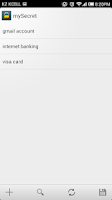 Screenshot of mySecret - Password Manager