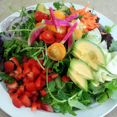Beautiful Garden Salad made with fresh local organic ingredients.