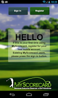 Screenshot of MyScorecard Golf Score Tracker