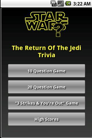 The Return Of The Jedi Trivia
