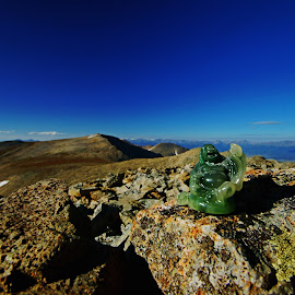 Mountain Buddha by Justin Giffin - Artistic Objects Other Objects ( rocky mountains, colorado, artistic objects, objects in nature, buddha )