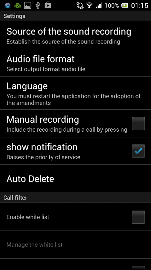 Call Recorder Elite Screenshot 4
