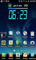 Screenshot of Rainbow Battery Clock (HD32)