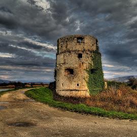by Stjepan Jozepović - Buildings & Architecture Public & Historical ( clouds, tower, hdr, kula norinska, croatia, historical, metkovic )