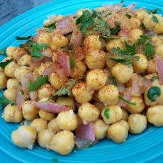 Warm Chickpea Salad With Ginger