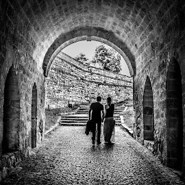 Together... by Dragana Vojinovic - People Couples ( lovers, black & white, people, couples )