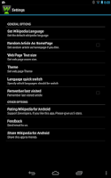 Screenshot of GWiki - Wikipedia for Android