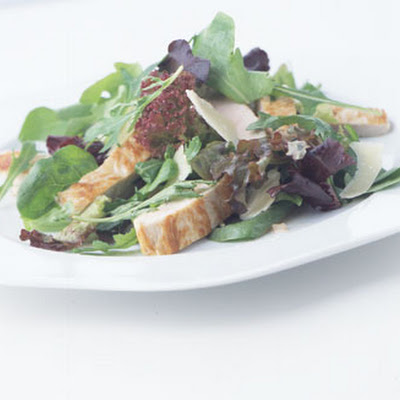 Turkey Cutlet and Parmesan Salad