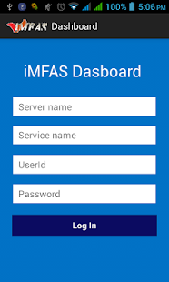 iMFAS Dashboard - screenshot