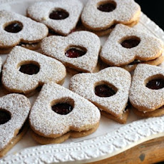 Valentines Day Linzer Heart Cookies