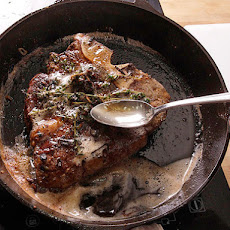 Butter-Basted Pan-Seared Thick-Cut Steaks
