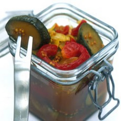 Pickled Peppers and Courgettes