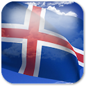 3D Iceland Flag + icon