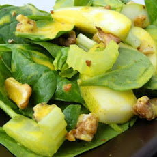 Pear, Spinach, Walnut & Celery Salad