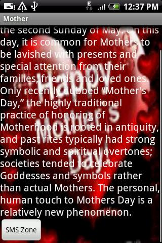 Mother's Day SMS