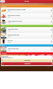 Low Carb Meal Planner - screenshot
