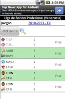 Screenshot of Beisbol Profesional Venezuela