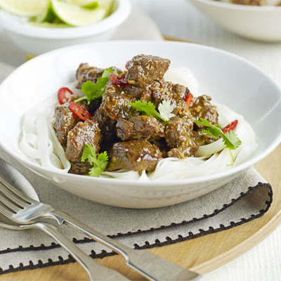 Lemongrass Beef Stew With Noodles