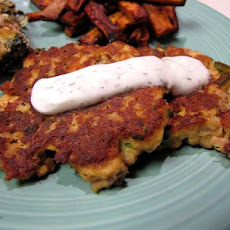 Salmon/Tuna Patties With Dill Sauce