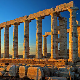 Temple of Poseidon. by Ioannis Alexander - Buildings & Architecture Statues & Monuments ( temple, monuments, historical sites, athens, poseidon, ancient ruins,  )