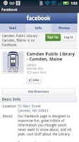 Screenshot of Camden Public Library Mobile