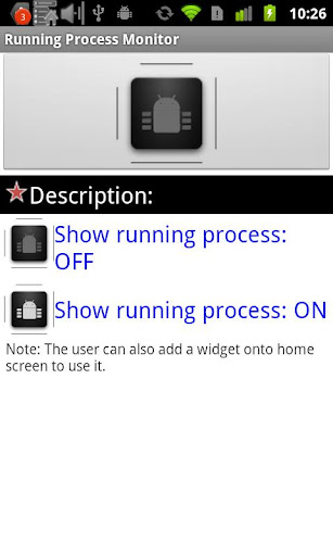 Running Process Toggle