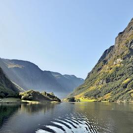 Nærøyfjorden by Svein Hurum - Landscapes Mountains & Hills