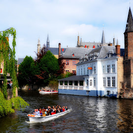 Bruges 2 by Cengiz Tasci - City,  Street & Park  Vistas ( bruges, travel, historical, public, landscape, river )