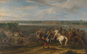RIJKS: Adam Frans van der Meulen: Louis XIV Crossing into the Netherlands at Lobith 1690