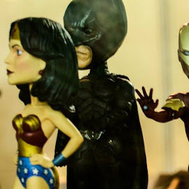 Don't know what Iron Man is upto meddling with affairs of Justice League of America :P #Avengers #JLA #WonderWoman #IronMan #SuperMan #DarkKnight by Vyom  Rastogi - Artistic Objects Toys