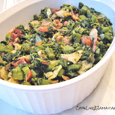 Jamaican Callaloo and Saltfish
