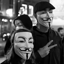 Anonymous by Trent Eades - News & Events Politics ( anonymous, counter culture, peace, protest )