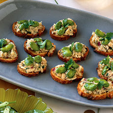 Tuna and Fava Crostini