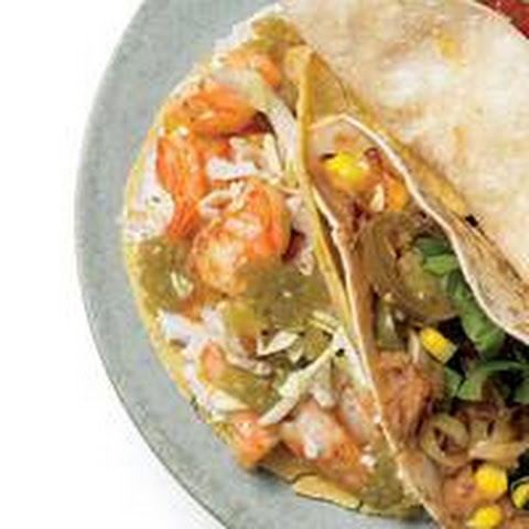 Cheesy Shrimp Tacos
