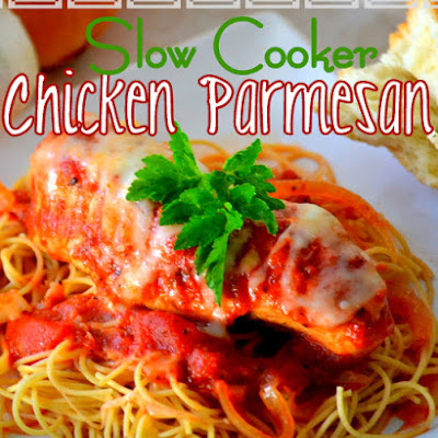Easy, Cheesy, Slow Cooker Chicken Parmesan