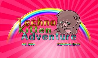 Screenshot of Techno Kitten Adventure