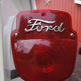 Ford Light by David Cummings - Transportation Automobiles ( old, vintage, truck, taillight, ford )