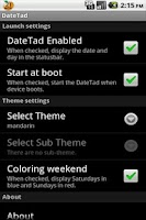 Screenshot of DateTad