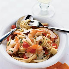 Shrimp and Brie Linguine