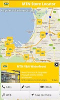 Screenshot of MTN Store Locator