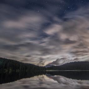 Pass Lk mirror by Eddie Murdock - Landscapes Waterscapes