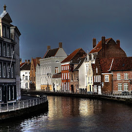 Brugge by Meglena Georgieva - City,  Street & Park  Neighborhoods ( europe, kanal, colors, street, buildings, belgium, visit, architecture, brugge, river, city,  )