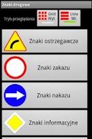 Screenshot of Znaki drogowe