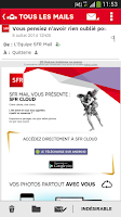 Screenshot of SFR Mail