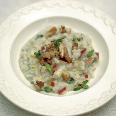 Apple & Walnut Risotto With Gorgonzola